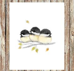 Hey, I found this really awesome Etsy listing at https://www.etsy.com/listing/245086092/bird-painting-chickadees-chickadee
