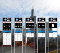 Chicago Transit Authority Bus Stop Signage Redesign by Muxiang Pajerski, via Behance