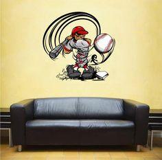cik431 Full Color Wall decal Baseball bits sports sportsman bedroom living room