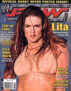 lita on the cover of the July issue of wwe magazine in 2004 Wrestling Superstars, Wrestling Divas, Women's Wrestling, Lita Wwe, Wwe Trish, Raw Wwe, Trish Stratus, Ufc Women, Wwe Female Wrestlers