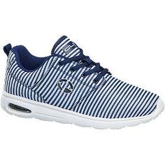#Graceland #Sneaker #weiß für #Damen - Light Weight Sohle Absatz 3 5 cm Farbe blau weiß Laufsohle Phylon…