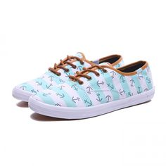 Womens Keds Shoes White/Sky Blue Champion Anchors Classic Canvas
