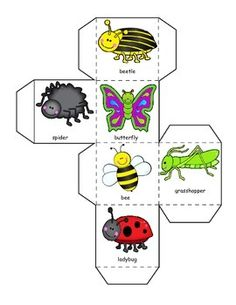 BUGS ON PARADE LEARNING CUBE, ROLL, GRAPH AND COUNT - TeachersPayTeachers.com