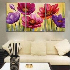 set+of+three+paintings | Abstract-Paintings-3pcs-Canvas-Set-Modern-Wall-Art-Acrylic-Handmade ...
