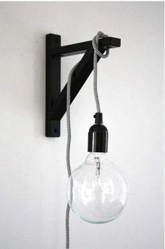 lamparas y apliques de pared hecho con maderas de obras - Buscar con Google