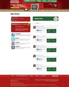 Página do perfil logado com o usuário do Foursquare. Integração social e mashup. Descubra o Melhor com Tabasco. (2011)