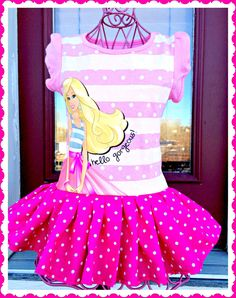 RTS Barbie Glamour sparkle girls Princess twirl Dress size 2T 3T and 4T ready to ship