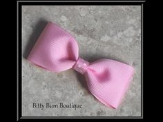 easy, quick tuxedo simple bow ▶ How To Make A Simple Boutique Hair Bow - YouTube