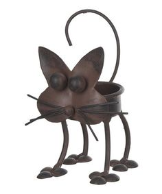 This Cat Tealight Holder is perfect! #zulilyfinds