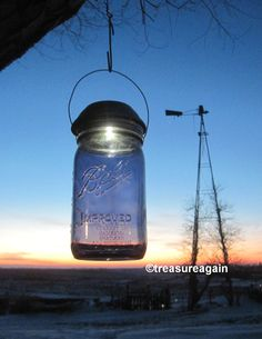 Ball Purple Solar Mason Jar Light 4x Brighter Solar by treasureagain  http://etsy.me/1wWsOY9