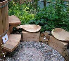фото необычнах скамеек для дачи