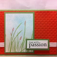 Hand crafted card using Stampin'Up products.