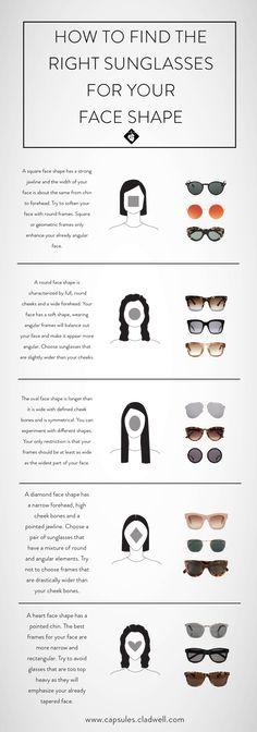 2ef10efe8a How To Find The Best Sunglasses For Your Face  Women  — CLADWELL GUIDE  Diamond