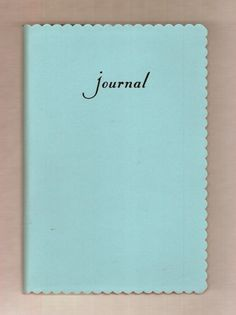 if its blue with a scalloped edge, I want it. Journal Diary, Book Journal, Journal Ideas, Journals, Kate Spade Planner, Beautiful Notebooks, Shades Of Teal, Diy Notebook, Skyfall