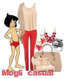 """""""Mogli casual"""" by addicted-to-disney ❤ liked on Polyvore featuring art"""
