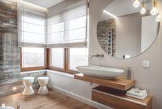 Dom w Gdańsku 2014 Oak Bathroom, Laundry In Bathroom, Bathrooms, Bathroom Ideas, Interior Architecture, Interior Design, Bath Design, Corner Bathtub, Interior Inspiration