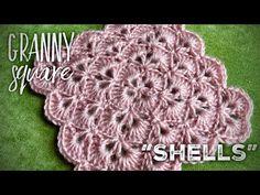 "СУПЕР УЗОР для вязания крючком: БАБУШКИН КВАДРАТ РАКУШКАМИ!!! 🐚🐚🐚 ""Shells"" granny square - YouTube Crochet Squares, Shells, Crochet Patterns, Crochet Hats, Video Tutorials, Youtube, Knit Patterns, Breien, Conch Shells"