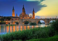 ilovespain:    (via discoboxx)  The Basilica-Cathedral of Our Lady of the Pillar in Zaragoza Aragon in Spain