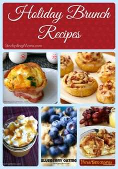 Holiday Brunch Recipe Collage