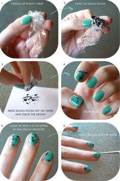 Turquoise Stone nail art tutorial