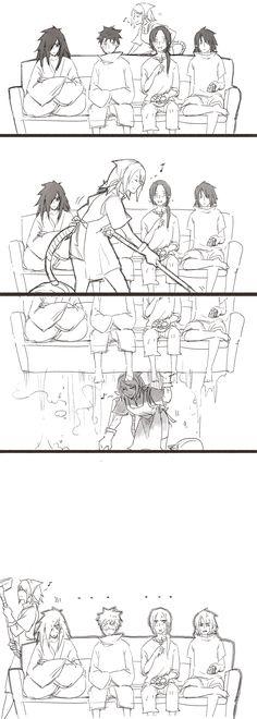 <3 Sakura, Sasuke, Madara, Obito & Itachi - by 死猫晴, [pixiv] they need to remember Sakura is much stronger than them.