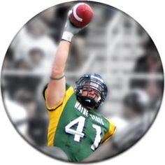 Football Player Photo Round Custom Sports Button - #affordablebuttons - Green Bay Packer Football - High School Football - College Football -