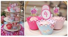cupcake wrappers from etsy...princess party