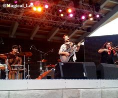 """Lee DeWyze plays his single """"Fight"""" at RiversEdge Park in Aurora Photo by @Magical_Lee on instagram HERE"""