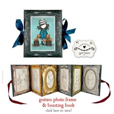 You are simply going to love this new Gorjuss product! It is a Gorjuss Boasting Book, which will hold 6 photos (size 6 x 4). The spine and outside edge are tied closed with a pretty ribbon, when you undo the outside edge ribbon you can open the book and