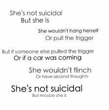 Bildresultat för suicidal but not depressed