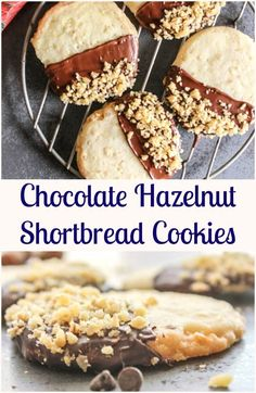 Chocolate Hazelnut Shortbread Cookies, a simple, easy melt in your mouth…