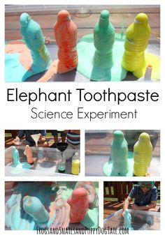 Elephant Toothpaste Science Experiment idea for kids - FSPDT