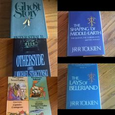 Vintage and collectible horror, fantasy, & scifi! 1st edition Ghost Story,  Tolkien's Lays of Beleriand & Shaping of Middle-Earth, Othersyde by J. Michael Straczynski (Babylon 5), young adult horror, Illustrated Classics, Isaac Asimov Collections!