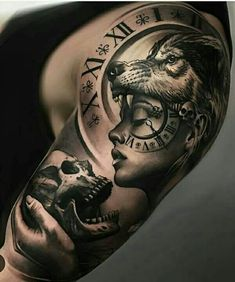 Wolf Girl Tattoo Idea Amazing ♡