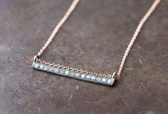 diamond bar necklace - Alexis Russell
