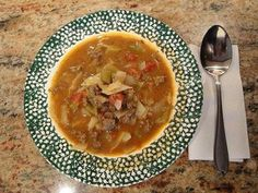 Sweet and Sour Beef Cabbage Soup Recipe - 5 Points + - LaaLoosh