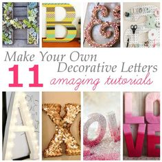 Great idea for decorating with letters.