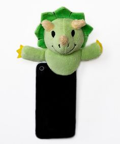 Cajoling and pleading for little ones to look at the camera will be no more with this clever Shutter Hugger. The fun plush animal clips on top of a smartphone and it gives photogenic darlings something entertaining to focus on. Capture every precious moment with the help of this friendly pal!4'' W x 4'' H x 2'' DHand wash