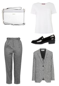 """""""Out of grey"""" by shanisiavniel on Polyvore featuring mode, Topshop, MaxMara, STELLA McCARTNEY, GUESS en River Island"""