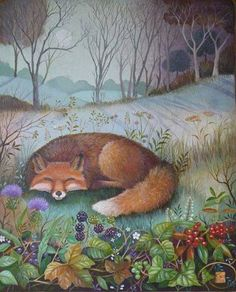 Anything will give up its secrets if you love it enough. Fox Illustration, Illustrations, Fuchs Baby, British Wildlife, Fox Art, Forest Friends, Woodland Creatures, Fantasy Art, Art Gallery