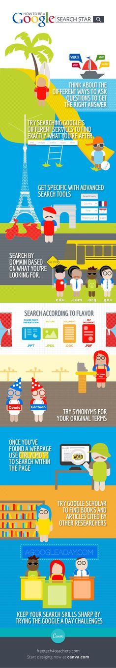 How to be a Google Search Star #infografía #infographic