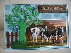 Koeienkaart.... Moose Art, Animals, Animaux, Animales, Animal, Dieren