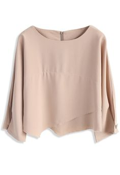 Every Chic Day Smock Top in Light Tan - New Arrivals - Retro, Indie and Unique Fashion