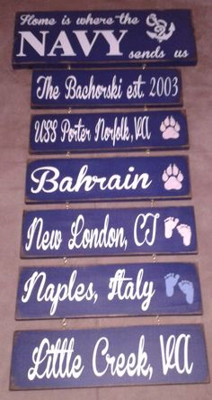 8b2296b628f Home is where the navy sends us Wooden Sign by CountryKreations1