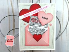 Hero Arts January Card Kit 2020 | Many Techniques & Cards – Jackie's Craft Table Valentine Day Cards, Happy Valentines Day, Hero Arts Cards, Heart Cards, Cards For Friends, Card Kit, Sympathy Cards, Flower Cards, My Flower