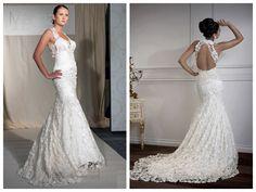 Floor Length Mermaid Sweetheart Open Cross Back Wedding Dresses