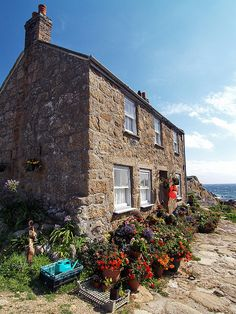 Seaside Place, a granite-built cottage at Penberth in the far west of Cornwall   Attic Full Of Clutter