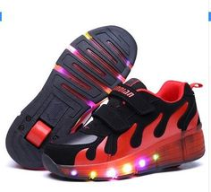 reputable site a9137 7eaf8 New Child Jazzy wheel Junior Girls Boys LED Light wheel Children Roller  Skate Shoes, Kids Sneakers With Single Wheels YangXi