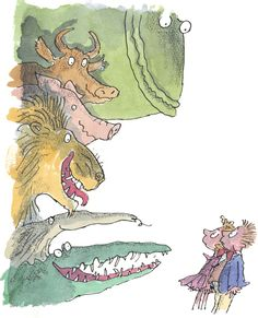 Quentin Blake Dirty Beasts illustration