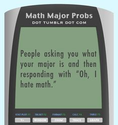 Math Major Problems
